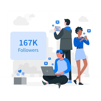 Followers concept illustration Free Vector