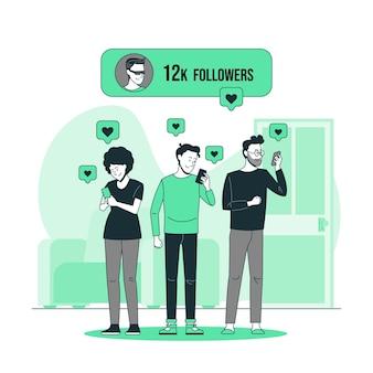 Иллюстрация концепции последователей