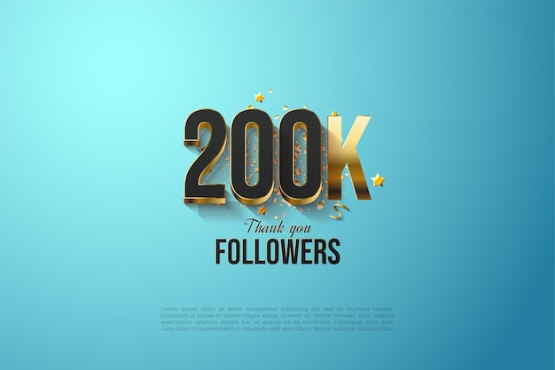 Followers with gold plated numbers and letters.