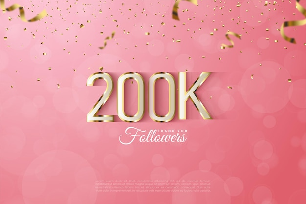 Followers with luxurious gold edged numbers and letters.