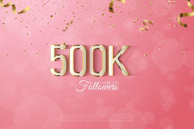 Followers with luxurious gold outlined numbers and letters.