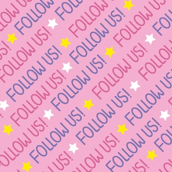 Follows us lettering