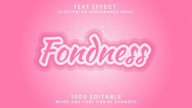 Fondness editable text effect style template