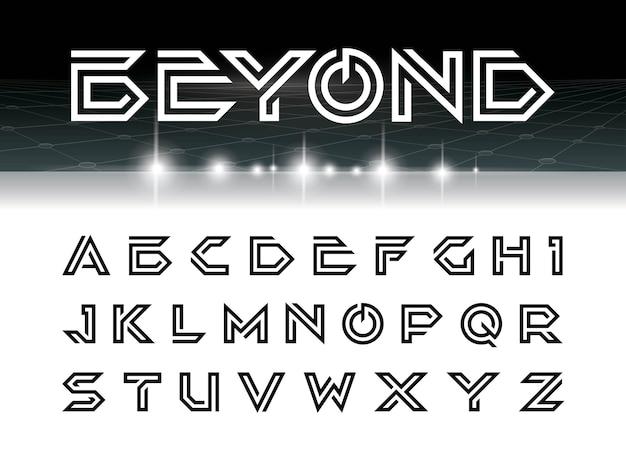 실버 너머의 글꼴