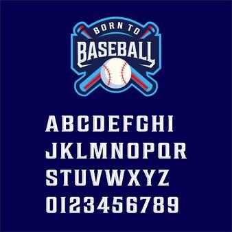 Font born to baseball