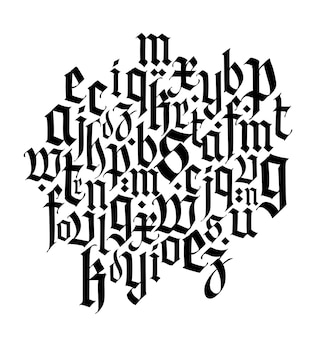 フォント構成中世ゴシックヨーロッパ現代ゴシック