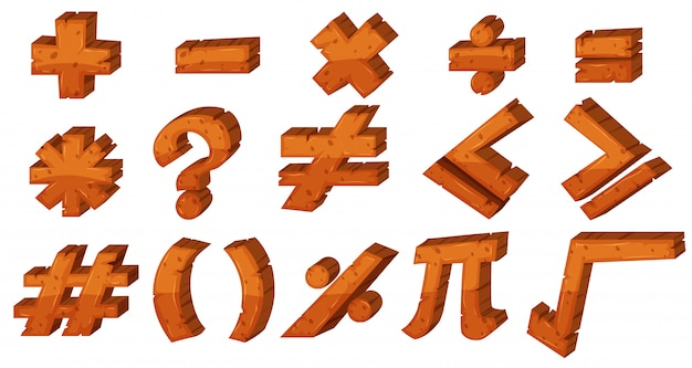 Font design for different math signs