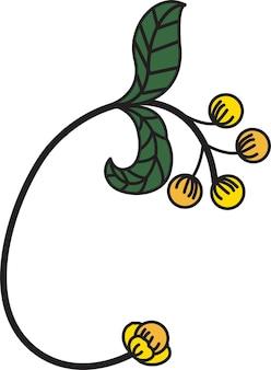 Дизайн шрифта в виде цветов подходит для создания логотипов или используется для обучения детей