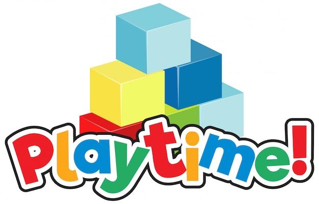 Шаблон дизайна шрифта для слова playtie