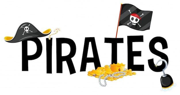 ワードの海賊版によるフォントデザイン