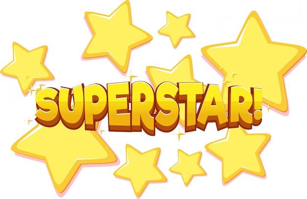 Font design for word superstar