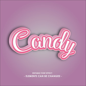 Font effect for candy products