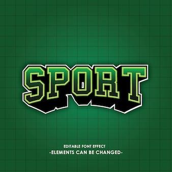 스포츠 로고의 글꼴 효과