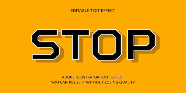 Остановить редактируемый текст font effect