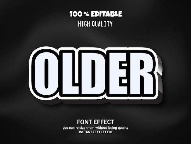 Font effect