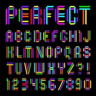 Шрифт сложен из двух цветных лент
