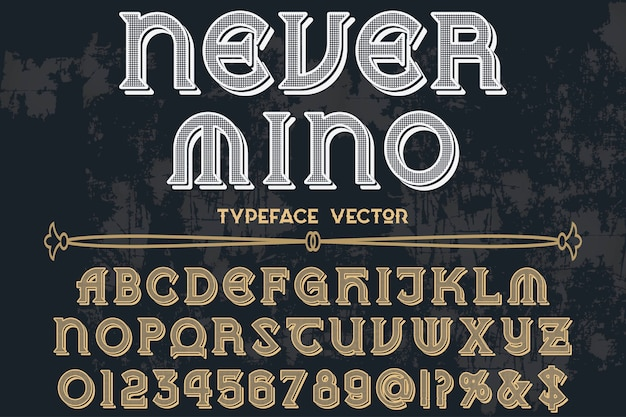 Font label design never mino