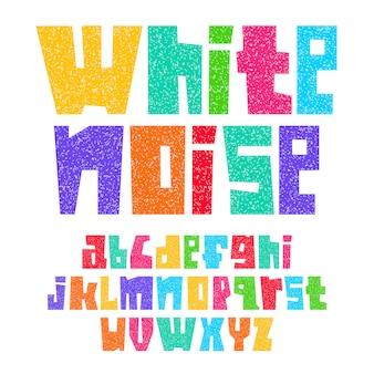 Шрифт бумаги вырезать белый шум, строчные буквы