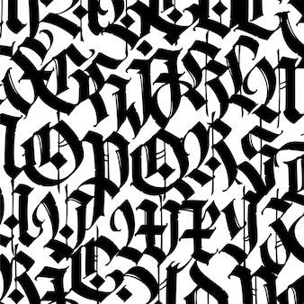Font pattern medieval gothic european modern gothic