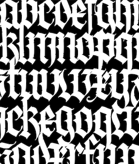 フォントパターン中世ゴシックヨーロッパ現代ゴシック
