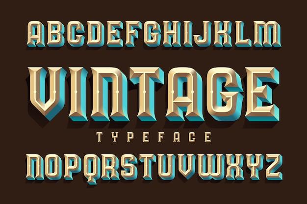 굵은 돌출 효과가있는 글꼴 세트