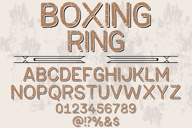 フォントshadow effectボクシングリング