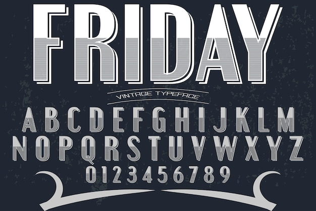 Font shadow effect typography design friday