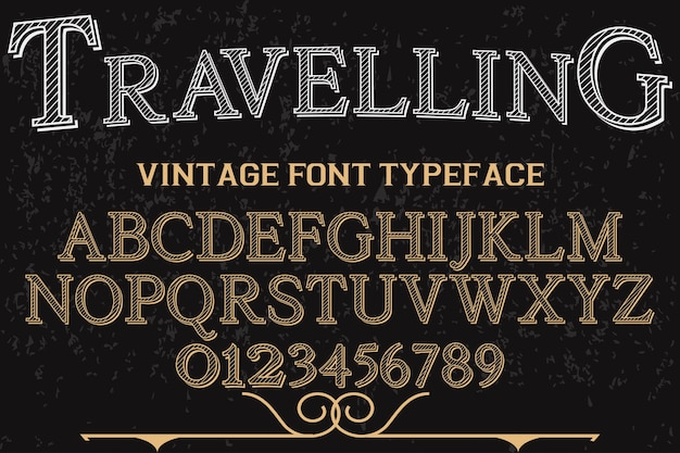 Font shadow effect typography design traveling