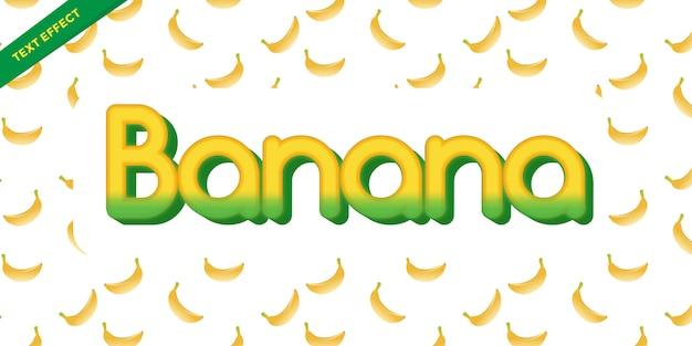 Font style banana color yellow  design templates