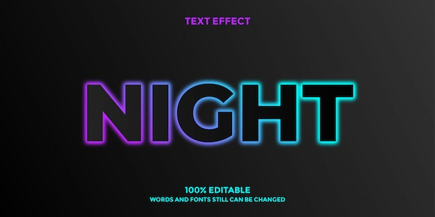 Font style dark glowing  design template