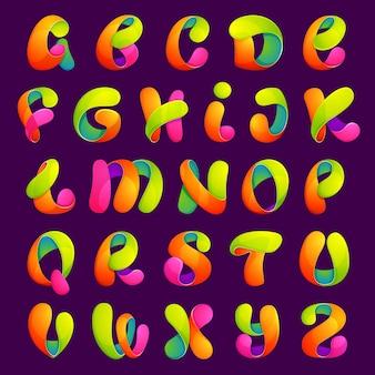 글꼴 스타일, 텍스트 효과, 다채로운 글자.
