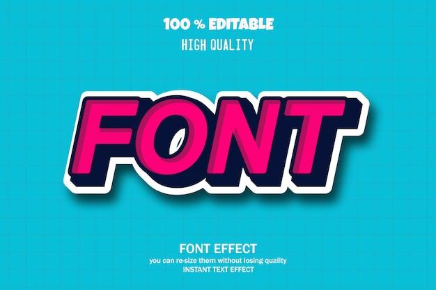 Font text, editable font effect