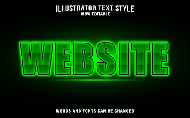 Font text style template - website