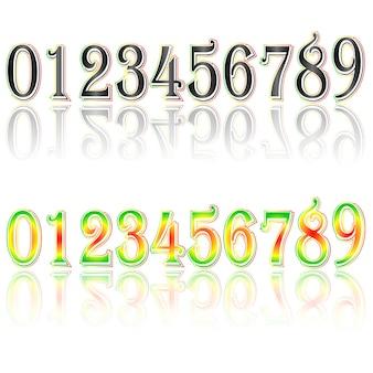 Font types. digital uhr nummer. vektor illustration