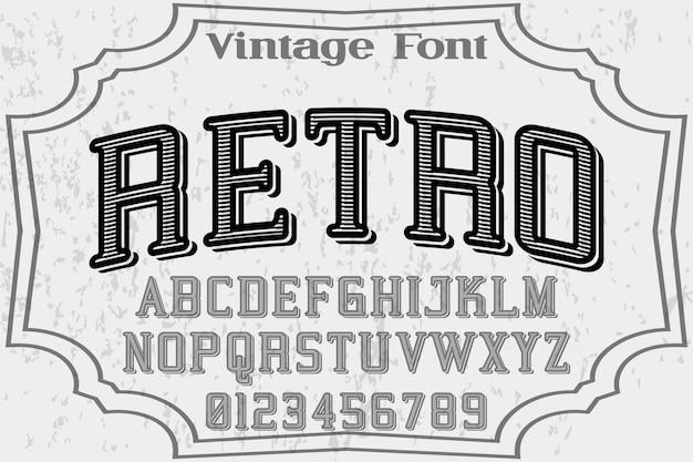 Font  vector retro and label design