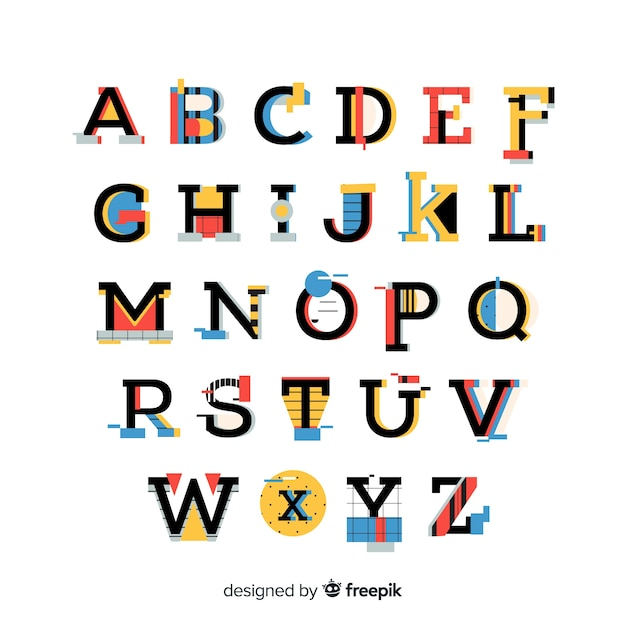 different types of writing alphabet styles