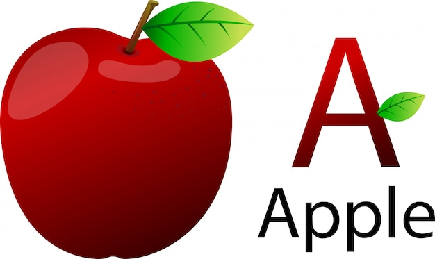 A font with apple