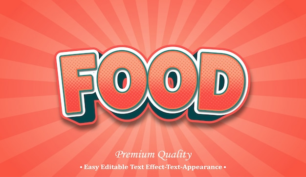 Food 3d font style effect