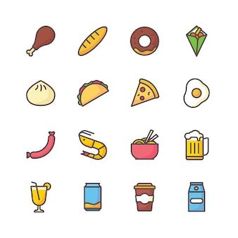음식과 음료 아이콘 세트