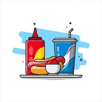 食べ物や飲み物のアイコンコンセプト白分離