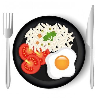 食品と美食のグラフィック。