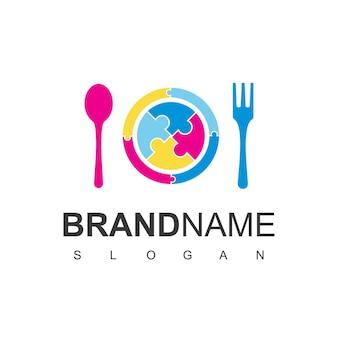 食品とレストランのロゴテンプレート