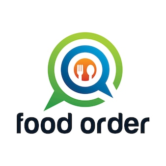 Food app icon logo