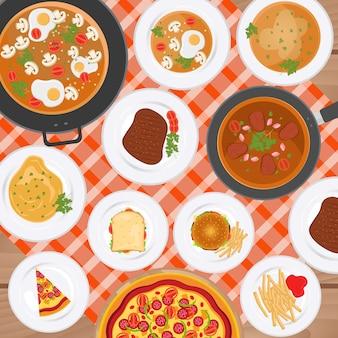 음식 배경 디자인
