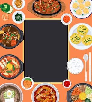 Food background illustration