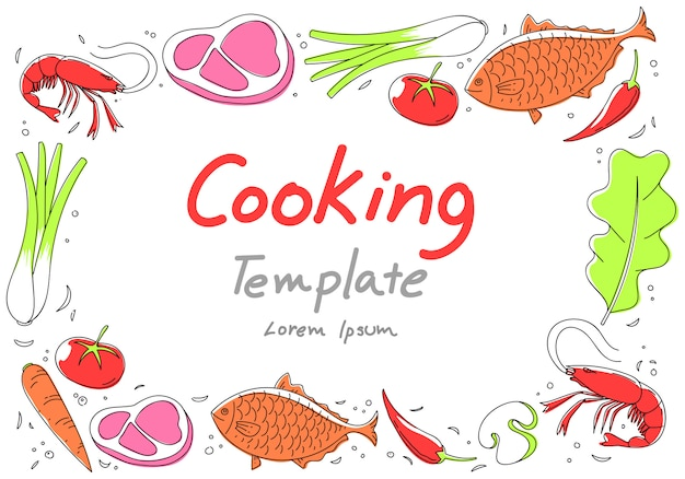 Food background, vector