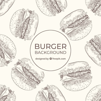 Food background with burgers