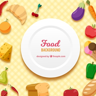 Food background with flat design