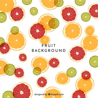 Food background with fruits
