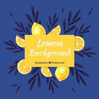 Food background with lemons